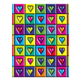 Multicolored Hearts Personalized Flyer
