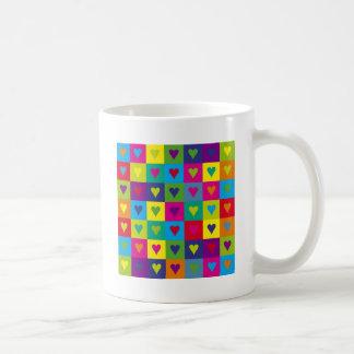 Multicolored Hearts Mugs