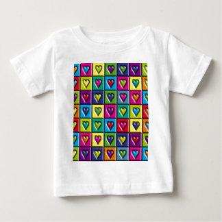 Multicolored Hearts Tee Shirt