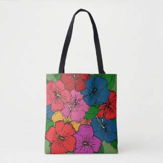 Multicolored Hibiscus Flowers #5 Tote Bag