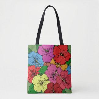 Multicolored Hibiscus Flowers #6 Tote Bag