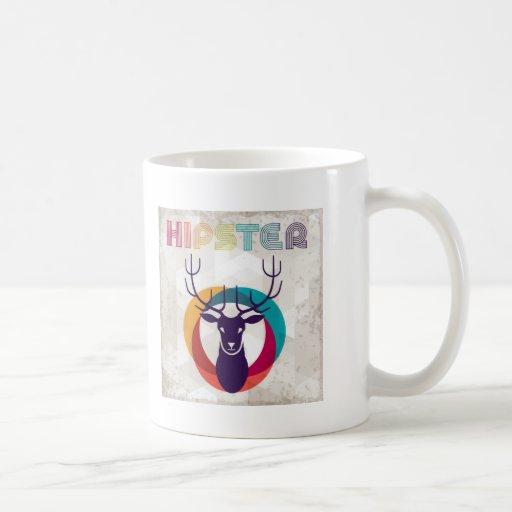 Multicolored Hipster Deer Gear Coffee Mug