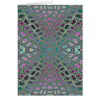 Multicolored Hologram Butterfly Fractal Abstract Greeting Card