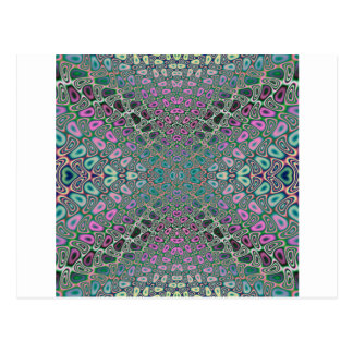 Multicolored Hologram Butterfly Fractal Abstract Postcard