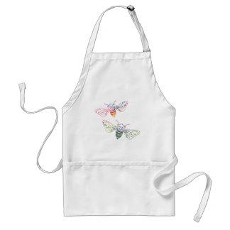 Multicolored Honeybee Doodles Standard Apron
