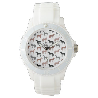 Multicolored Horses Pattern Watch