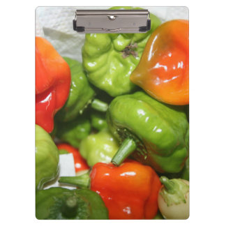 Multicolored hot pepper pile image clipboards