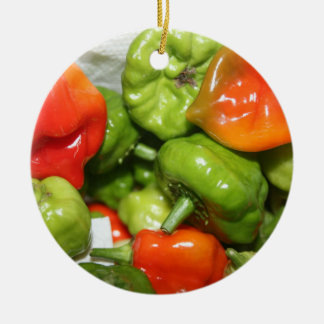 Multicolored hot pepper pile image ornaments