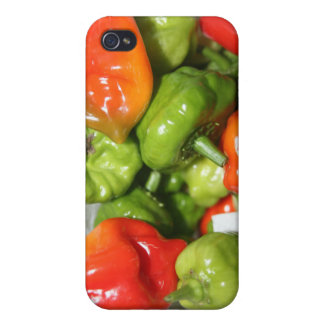 Multicolored hot pepper pile image cover for iPhone 4