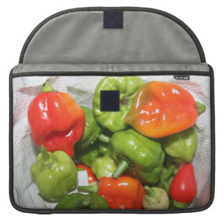 Multicolored hot pepper pile image MacBook pro sleeve