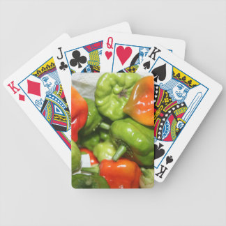 Multicolored hot pepper pile image poker deck