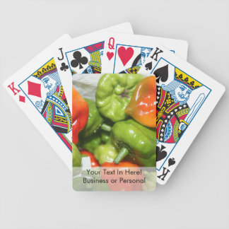 Multicolored hot pepper pile image bicycle poker deck