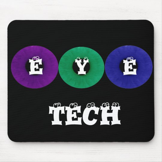 "Multicolored Iris ""Eye Tech"" Mouse Pad"