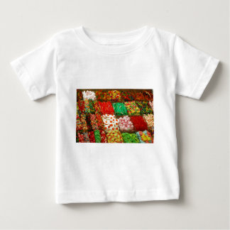 Multicolored-jellies-on-shelfs COLORFUL GUMMY CAND Tshirts