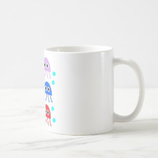 Multicolored jellyfishes basic white mug