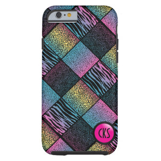 Multicolored Jungle Animal Patterns| Monogram Tough iPhone 6 Case