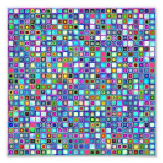 Multicolored 'Kindergarten' Retro Tiles Pattern Photo