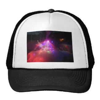 multicolored lasers fog lights foam fun hat