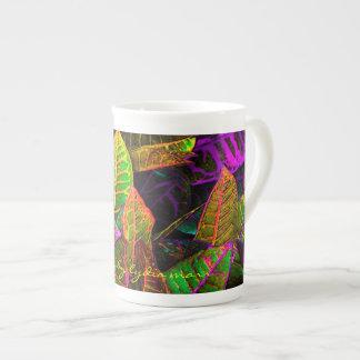 Multicolored Leaves Bone China Mug