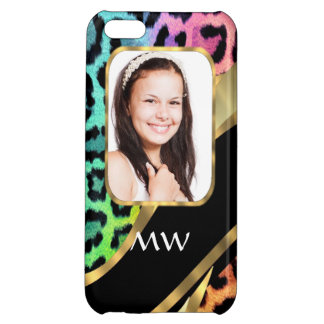 Multicolored leopard print case for iPhone 5C
