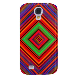 Multicolored Line Burst Pattern Galaxy S4 Case
