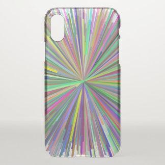 Multicolored Line Burst Pattern Phone Case