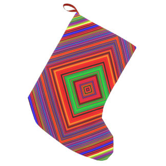 Multicolored Line Burst Pattern Small Christmas Stocking