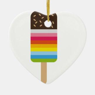 Multicolored Lolly Pop Icecream Ceramic Heart Decoration