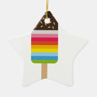 Multicolored Lolly Pop Icecream Ceramic Star Decoration