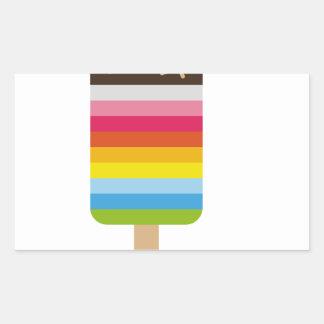 Multicolored Lolly Pop Icecream Rectangular Sticker