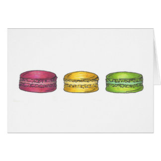 Multicolored Macarons Card