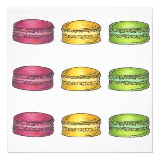 Multicolored Macarons Invitation