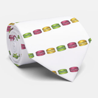 Multicolored Macarons Macaron French Cookie Tie