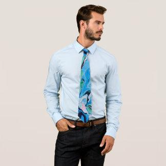 Multicolored Marble Stone Texture Tie