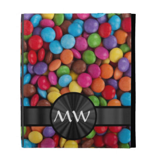Multicolored mnogrammed candies iPad case