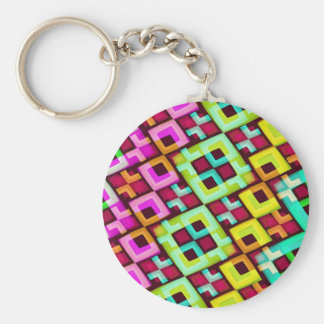 Multicolored Modern Abstract Background Key Chains