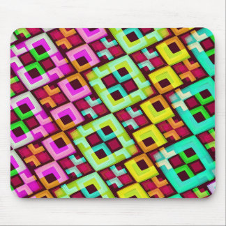 Multicolored Modern Abstract Background Mouse Pad