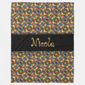 Multicolored Modern Abstract Pattern Personalized Fleece Blanket