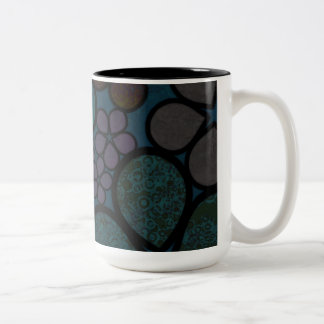 Multicolored, Modern, Textured Floral Mugs
