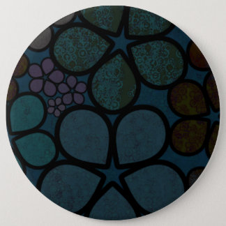 Multicolored, Modern Textured Flower Button