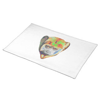 Multicolored Monkey Placemat