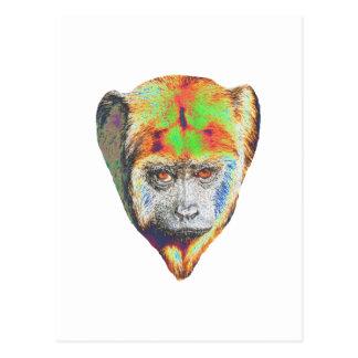 Multicolored Monkey Postcard