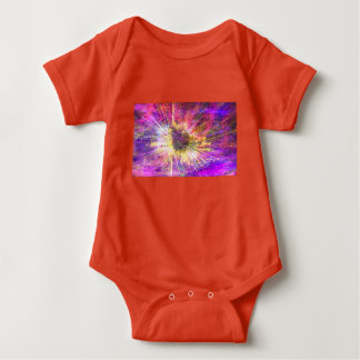 multicolored mystical background baby bodysuit