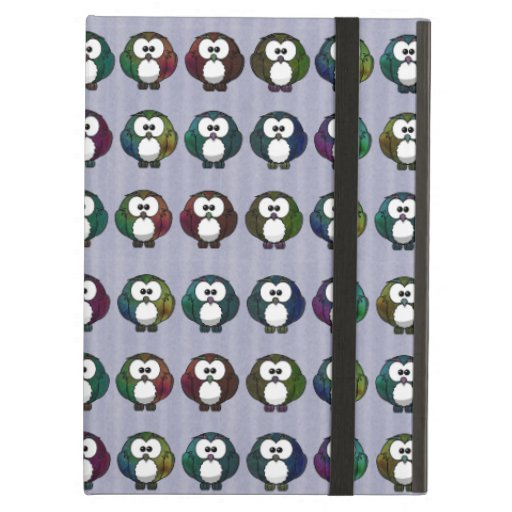 Multicolored Owls iPad Air Cover