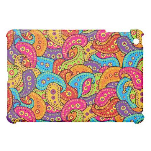 Multicolored Paisley iPad Mini Cases