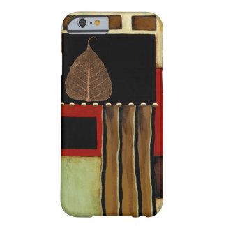 Multicolored Panel Painting with Brown Leaf Barely There iPhone 6 Case
