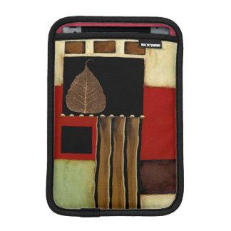 Multicolored Panel Painting with Brown Leaf iPad Mini Sleeve