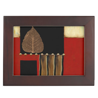 Multicolored Panel Painting with Brown Leaf Keepsake Boxes