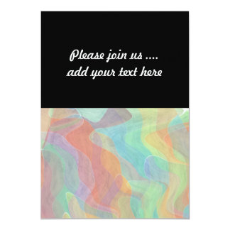 Multicolored Pastel Abstract Watercolor Art 13 Cm X 18 Cm Invitation Card