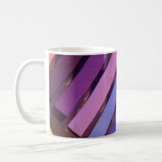 Multicolored Pattern Basic White Mug